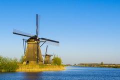 Kinderdijk, holandie Fotografia Royalty Free