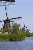 kinderdijk holandii wiatraczki Zdjęcie Stock