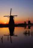 Kinderdijk, Hollandes Images stock