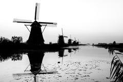 Kinderdijk i holland Arkivbilder