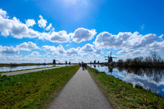 Kinderdijk - i Paesi Bassi Fotografia Stock Libera da Diritti