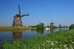 Kinderdijk landscape Royalty Free Stock Photos