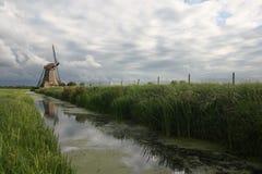 Kinderdijk liggande Fotografering för Bildbyråer