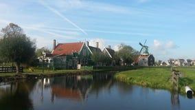 Kinderdijk - Nederländerna Arkivbilder