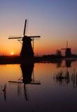 Kinderdijk,the Netherlands. Windmills of kinderdijk in the netherlands near rotterdam Stock Images