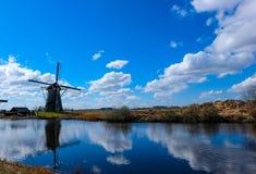 Kinderdijk - Países Baixos Foto de Stock Royalty Free