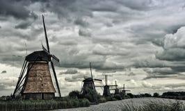 Kinderdijk väderkvarn Royaltyfria Foton