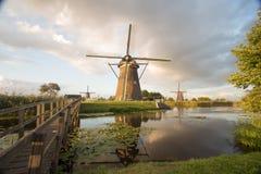 Kinderdijk wiatraczków unesco dziedzictwa holandie fotografia stock