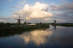 Kinderdijk wiatraczków unesco dziedzictwa holandie zdjęcie royalty free