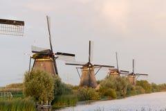 Kinderdijk wiatraczków unesco dziedzictwa holandie obraz stock