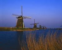 Kinderdijk, wiatraczki Zdjęcia Stock