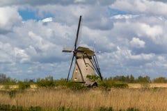 Kinderdijk wiatraczki Obrazy Royalty Free