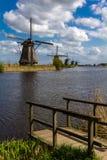 Kinderdijk wiatraczki Fotografia Royalty Free