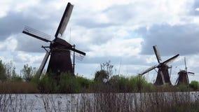 Kinderdijk-Windmühle stock video footage