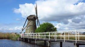 Kinderdijk-Windmühle stock video