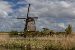 Kinderdijk-Windmühlen Stockbilder