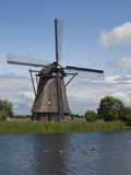Kinderdijk windmill Royalty Free Stock Images