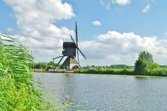 Kinderdijk windmill. Historic windmill in kinderdijk village in netherlands Stock Image