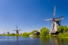 Kinderdijk windmills 2 Royalty Free Stock Photo