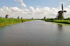 Kinderdijk windmills Royalty Free Stock Photography