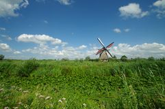 Kinderdijk windmills. Historic windmill in kinderdijk village in netherlands Stock Photography