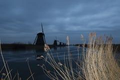 Kinderdijk. Windmills in Kinderdijk in the Netherlands Royalty Free Stock Photo