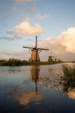 Kinderdijk windmills unesco heritage netherlands. Windmills unesco heritage netherlands summer traveling tourism Stock Photo