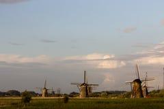 Kinderdijk windmills unesco heritage netherlands Royalty Free Stock Photo
