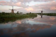 Kinderdijk windmills unesco heritage netherlands. Windmills unesco heritage netherlands summer traveling tourism Stock Photos