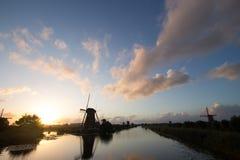 Kinderdijk windmills unesco heritage netherlands Stock Photography
