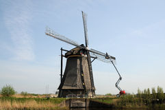 Kinderdijk windmills Stock Images