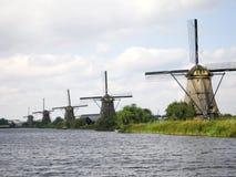 kinderdijkwindmills Fotografering för Bildbyråer