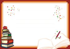 Kinderdiplomdesign - neu und Spaß Stockbilder
