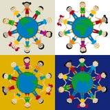 Kinderen 02 (vector) Stock Fotografie