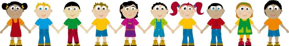 Kinderen 03 (vector) Stock Fotografie