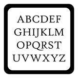 Kinderen abc pictogram, eenvoudige stijl vector illustratie