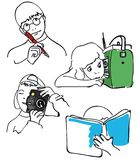 Kinderen in actie stock illustratie