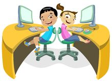 Kinderen & Technologie 2 Royalty-vrije Illustratie