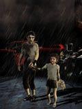 Kinderen in armoede Stock Fotografie