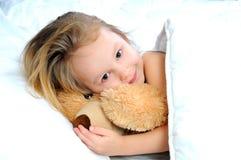Kinderen in bed Royalty-vrije Stock Foto