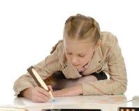 Kinderen belast met tekening 3 Stock Afbeelding