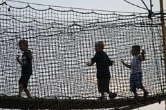 Kinderen bij de markt van het land Stock Afbeelding