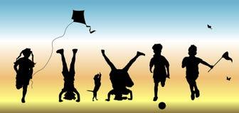 Kinderen bij Spel 1 Stock Foto's