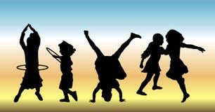 Kinderen bij Spel 2 Royalty-vrije Stock Foto's