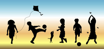 Kinderen bij Spel 3 Stock Fotografie