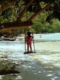 Kinderen bij Surin-eilanden, Thailand Royalty-vrije Stock Afbeeldingen