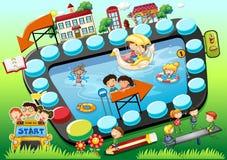 Kinderen boardgame Stock Fotografie