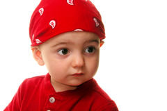 Kinderen: Boy Wearing Do Rag royalty-vrije stock foto's