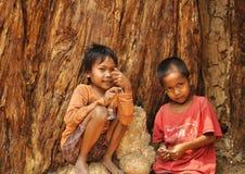 Kinderen in Camdobia Royalty-vrije Stock Foto