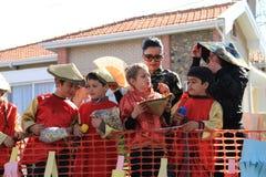 Kinderen. Carnaval in Cyprus. Royalty-vrije Stock Foto's